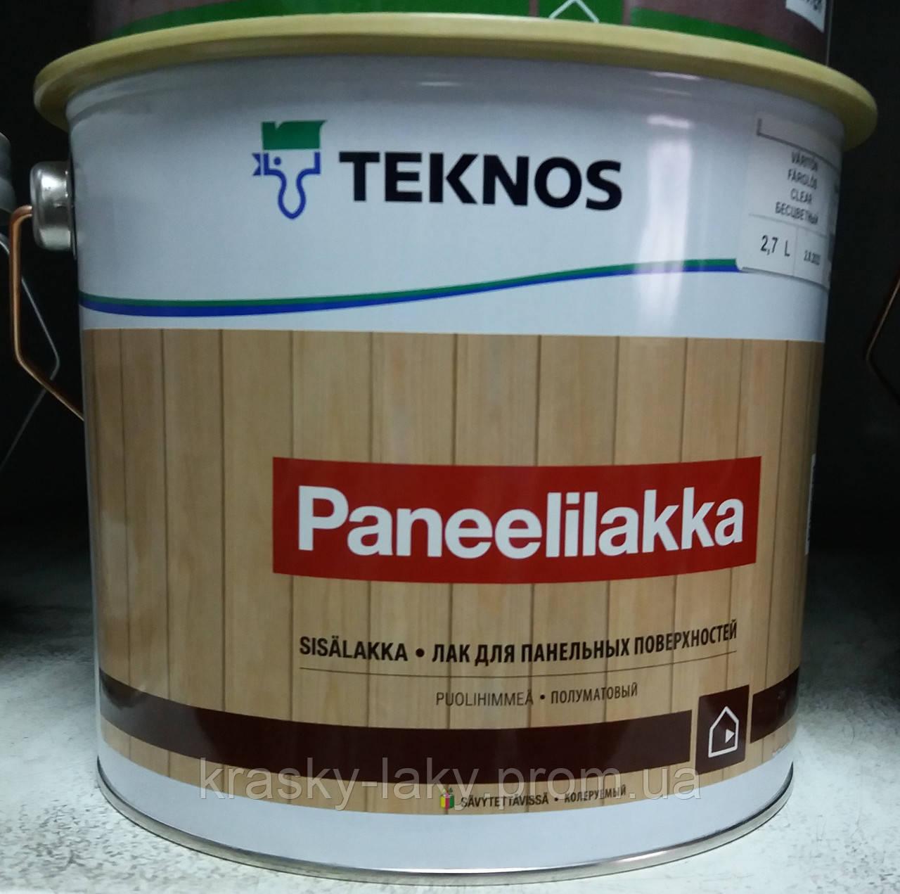 Лак PANEELILAKKA TEKNOS для деревянных панелей, 9л.