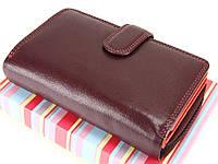 Женский кошелек кожаный бордовый Visconti R-13 Plum Multi , фото 1