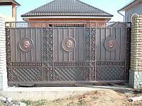 Ворота сварные с елементами ковки