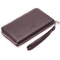Мужской кошелек клатч кожаный черный Karya 0704-45 , фото 1