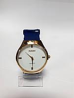 Часы кварцевые мужские в стиле Rado на синем ремешке арт.0402