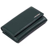 Женский большой кошелек кожаный зеленый Eminsa 2002-12-16, фото 1