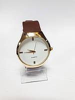 Часы кварцевые мужские в стиле Rado на коричневом ремешке арт.0403