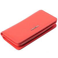 Женский кошелек кожаный коралловый Eminsa 2151-18-25, фото 1