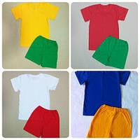 Детский комплект для физкультуры футболка и шорты, фото 1