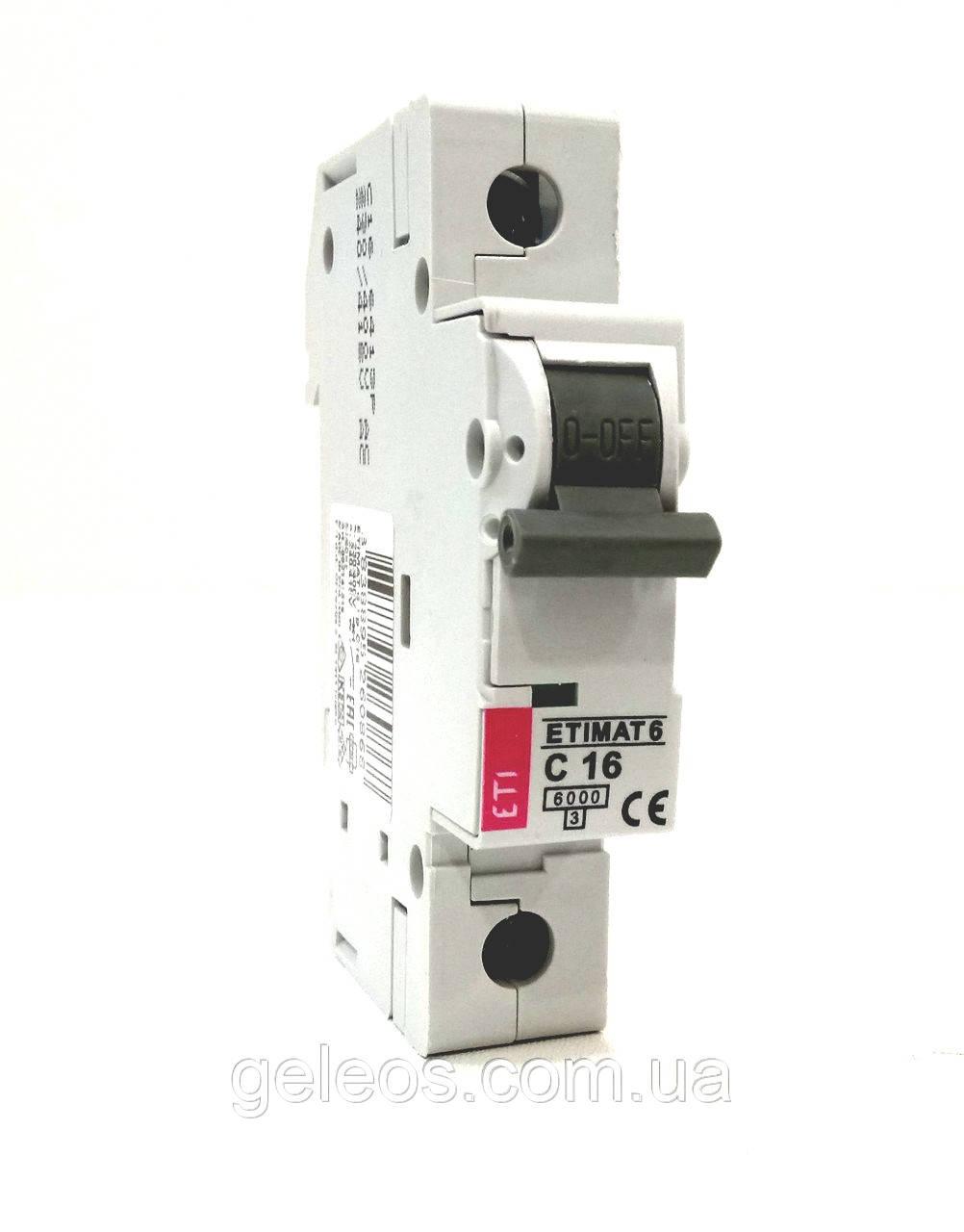 Автоматический выключатель ЕТІМАТ  6  1Р С 6А