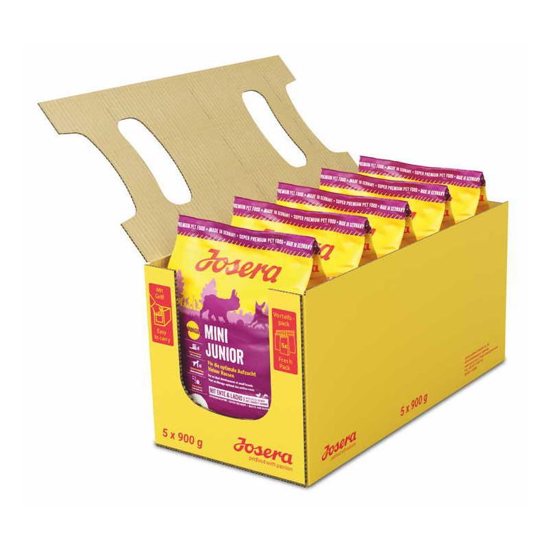 Josera MiniJunior 0,9 кг - беззерновой корм с уткой для для щенков с 3-х недель мелких пород