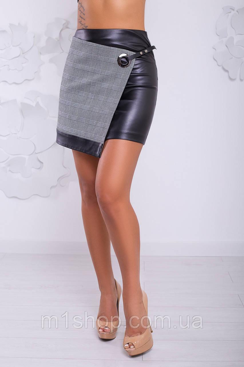 Женская юбка с имитацией на запах (Жардан lzn)