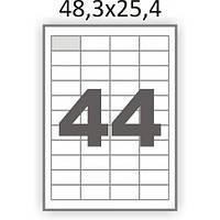 Самоклеющаяся бумага А4 44шт (48,3х25,4)