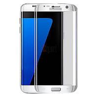 Защитное стекло Samsung G930 Galaxy S7 (0.3 мм, 3D серебристое) (без упаковки)