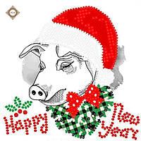 """Схема для вышивки бисером """"С Новым годом"""""""