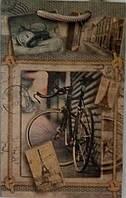 Пакет подарочный бумажный крафт малый 11х18х6 (21-105)