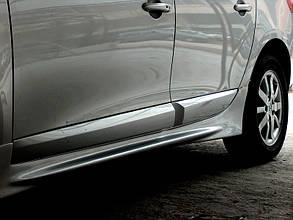 Боковые пороги (под покраску) Renault Fluence