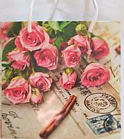 Пакет подарочный бумажный чашка 16х16х7 (22-094)