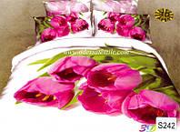 Комплект постельного белья  ELWAY сатин 3D 242