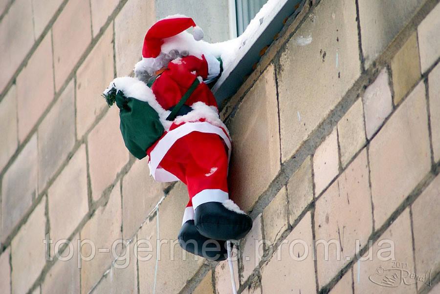 """Новогодний  Санта на лестнице - 90""""100"""