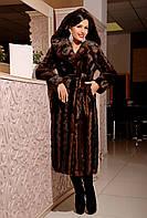Длинная шуба под норку коричневая волна из искусственного меха,коричневая норковая шуба с капюшоном, шубы фото