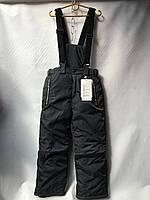 Штаны-комбез детские  для мальчика от 8 до 12 лет,чёрные