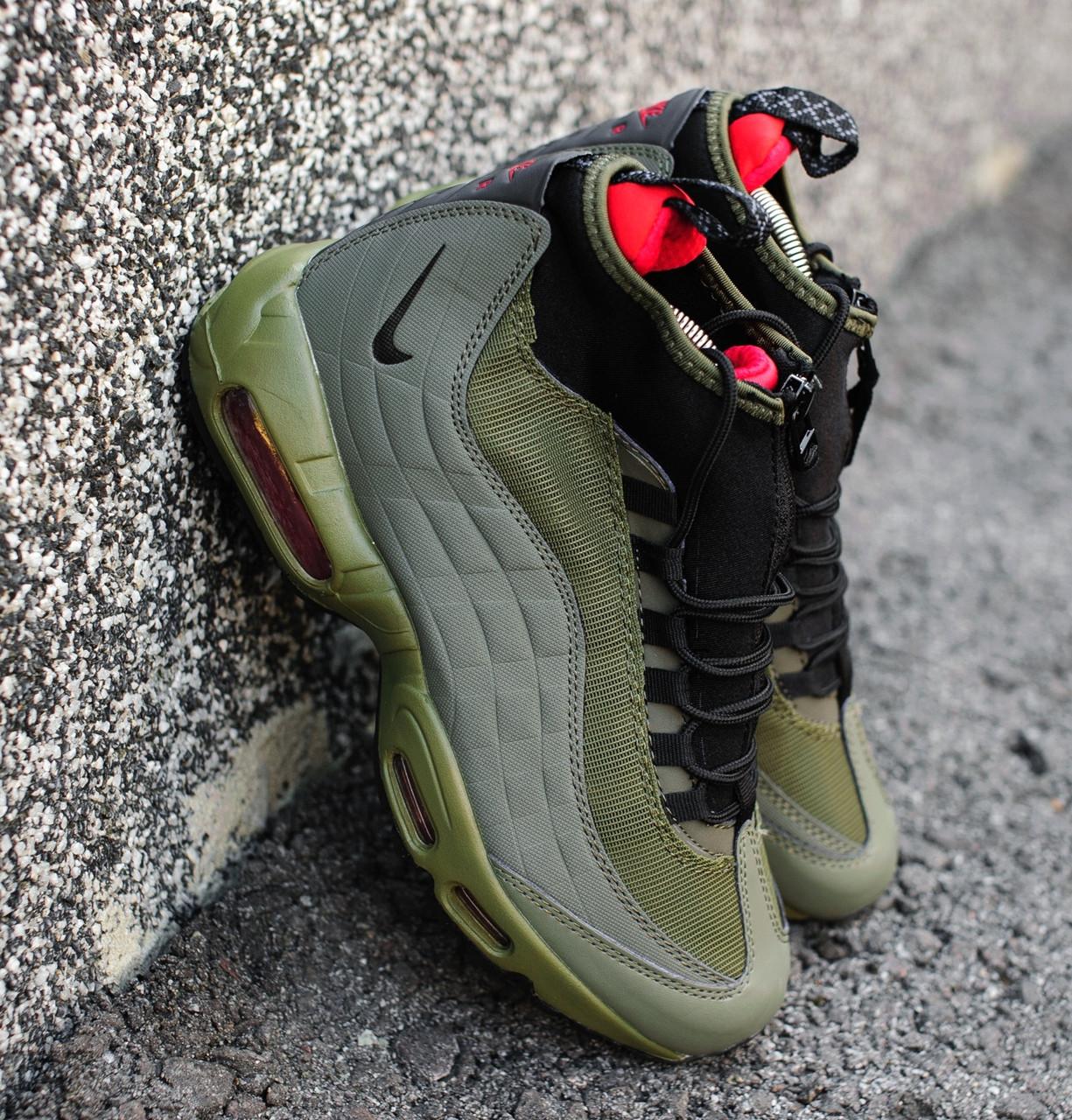 Мужские утепленные кроссовки в стиле Nike Air Max 95 Sneakerboot Green 6955d88ddb5