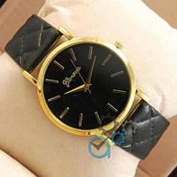 Женские наручные часы (копия) Geneva Black/Gold/Black