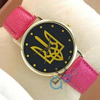 Мужские наручные часы (копия) Украинa I love Ukraine Pink/Gold