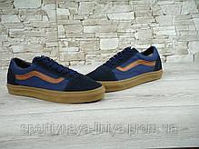 Кеды унисекс синие Vans Old Skool (реплика), фото 3