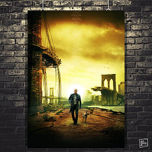 """Плакат """"Я - легенда, I am Legend (2007), вариант №2"""". Размер 60x43см (A2). Глянцевая бумага"""