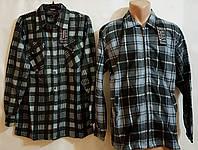Мужская рубашка байка пуговица и молния