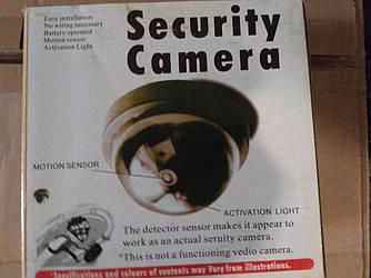 Муляж видеокамеры купольный с датчиком движения