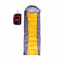 Спальник GreenCamp 450гр/м2 сіро-помаранчевий