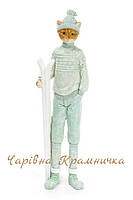 Новогодняя зимняя статуэтка Котик мальчик кот, фото 1