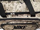 (33*70*30)Спортивна дорожня сумка камуфляж великий NIKE тільки ОПТ, фото 5