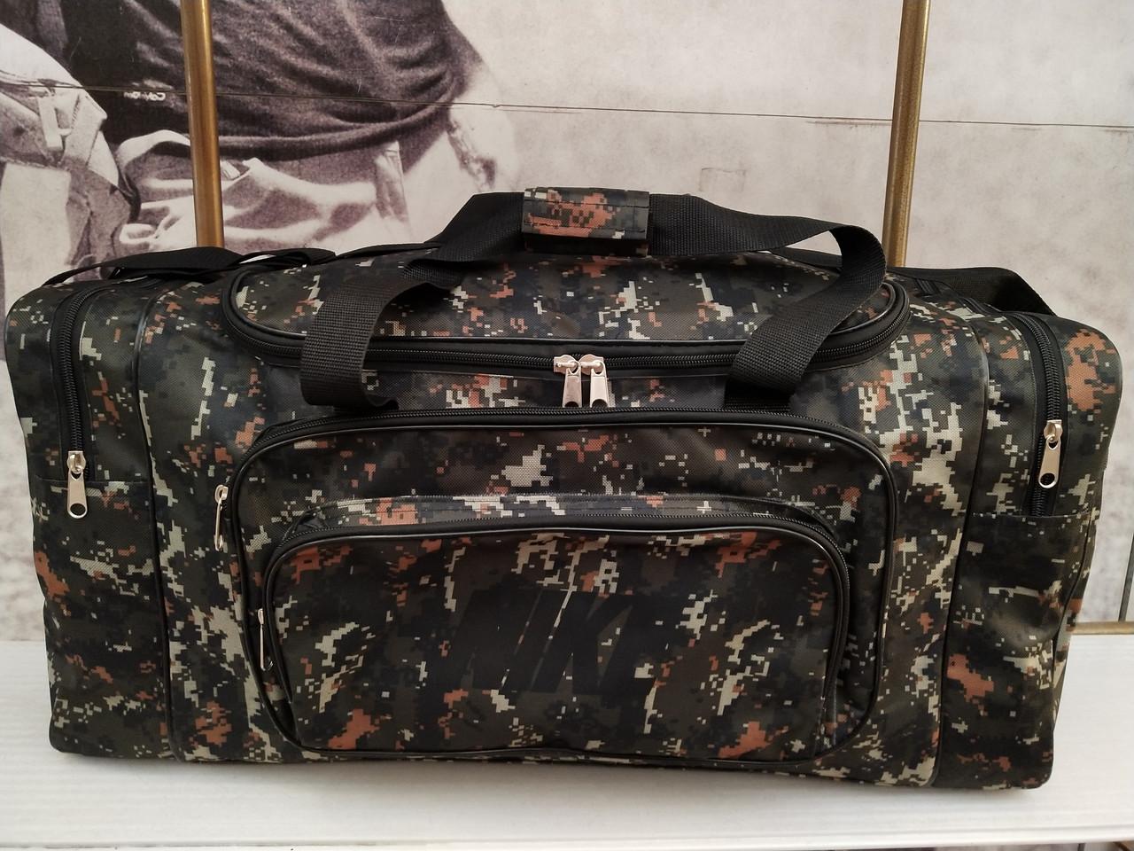(33*70*30)Спортивна дорожня сумка камуфляж великий NIKE тільки ОПТ
