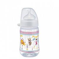 Бутылочка антиколиковая полипропиленовая с силиконовой соской 260 мл NIP 35042, фото 1