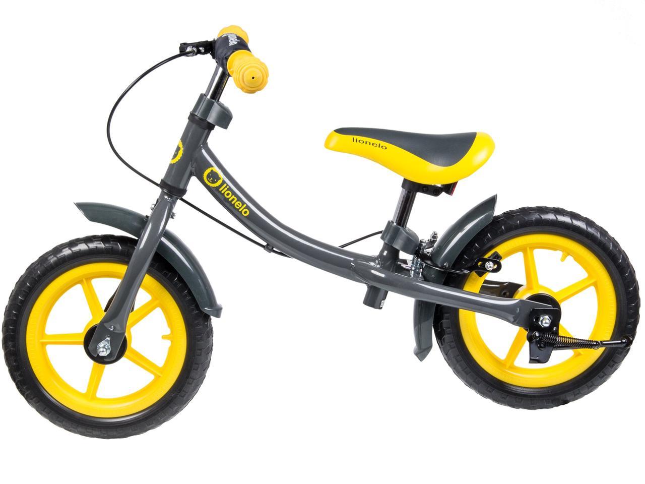 Беговел детский, велобег с тормозом LIONELO DAN + шлем EVA.