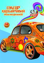 Набор цветной бумаги А4 20 листов 10 цветов,двухсторонняя