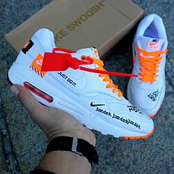 """Мужские кроссовки Nike Air Max 1 Just Do It """"White"""" (люкс копия)"""