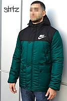 Мужская зимняя куртка-парка, зимова куртка Nike, Реплика