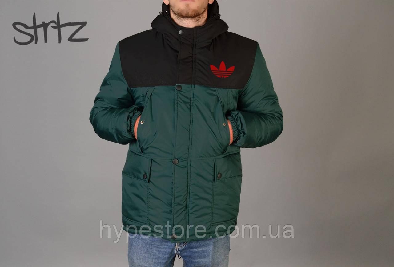 5f3a2c73 Мужская зимняя куртка-парка, зимова куртка Adidas, Реплика: продажа ...