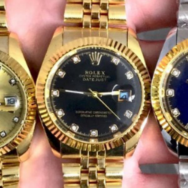 0663d29a50d2 Мужские наручные часы (копия) Rolex Date Just Gold-Black - Цена ...
