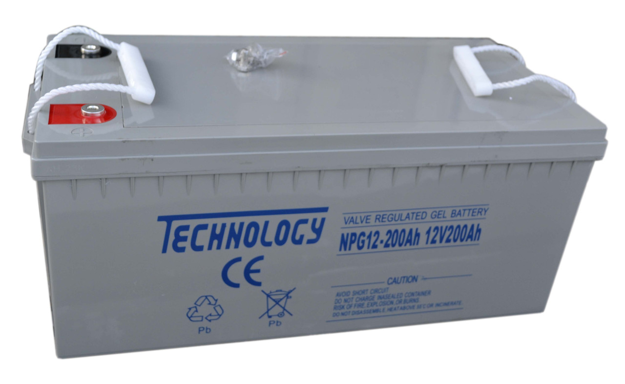 Аккумулятор гелевый TECHNOLOGY NPG12-200Ah 12V 200AH, (Gel) для ИБП