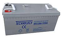 Аккумулятор гелевый TECHNOLOGY NPG12-200Ah 12V 200AH, (Gel) для ИБП, фото 1