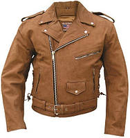 Куртка мужская кожа буйвола Mens Brown Motorcycle Jacket Premium Buffalo Leather