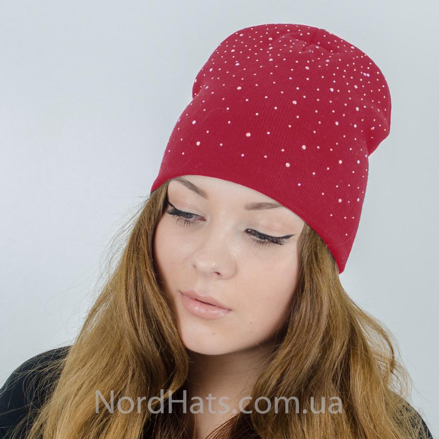 67b85917caa7 Женская шапка со стразами,