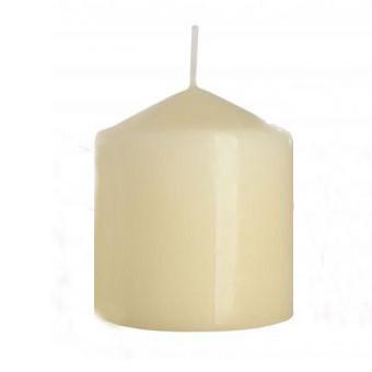 Свеча столовая цилиндр BISPOL кремовая 80 х 90 мм