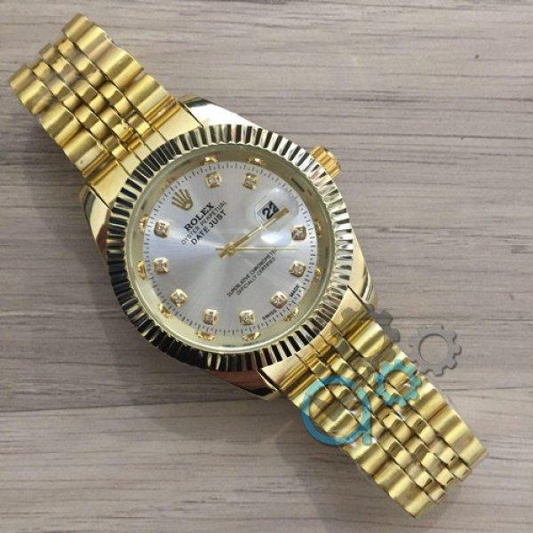 42c32c80b5b7 Мужские наручные часы (копия) Rolex Date Just Gold-Silver - Цена ...
