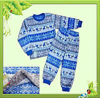 Пижама для  мальчиков с травки (теплая).