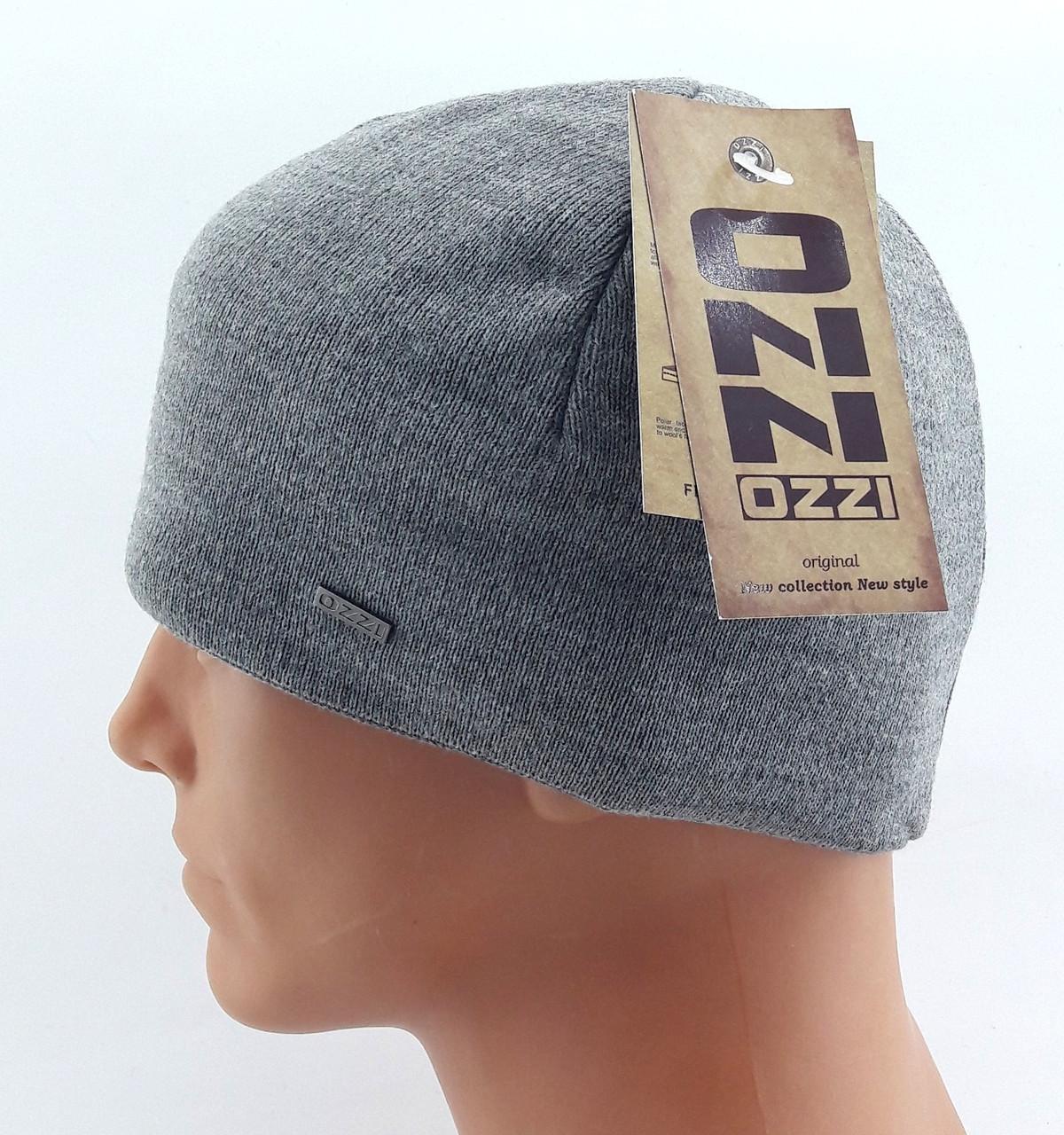 вязаная шапка мужская польская Ozzi размер универсальный шб119