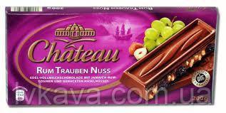 Молочный шоколад  Chateau Rum  trauben nuss , 200 гр