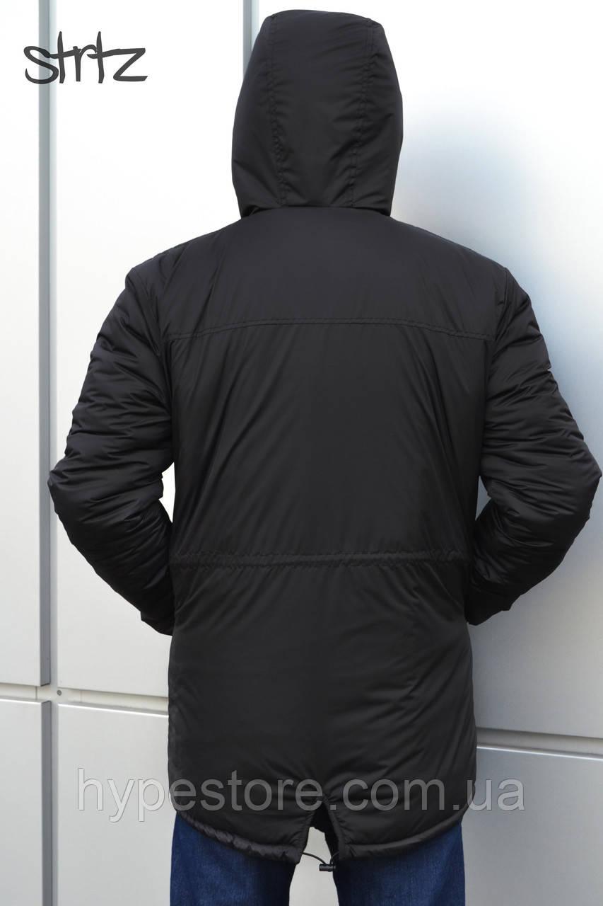 9898841f Мужская зимняя черная куртка-парка, зимова куртка Nike, найк, Реплика, ...